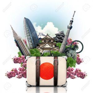 28433360-jap-n-hitos-jap-n-los-viajes-y-la-maleta-retro-foto-de-archivo